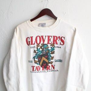 Vintage '91 Glover's Tavern England Crew Neck